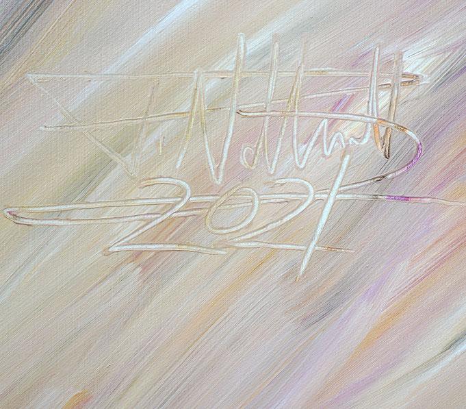 rechts unten auf dem Gemälde: Signatur und Jahr der Entstehung