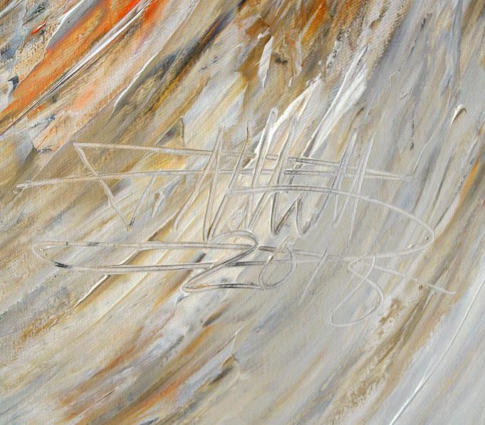 Signatur des Kunstmalers Peter Nottrott mit Entstehungsjahr,  rechts unten auf dem Gemälde