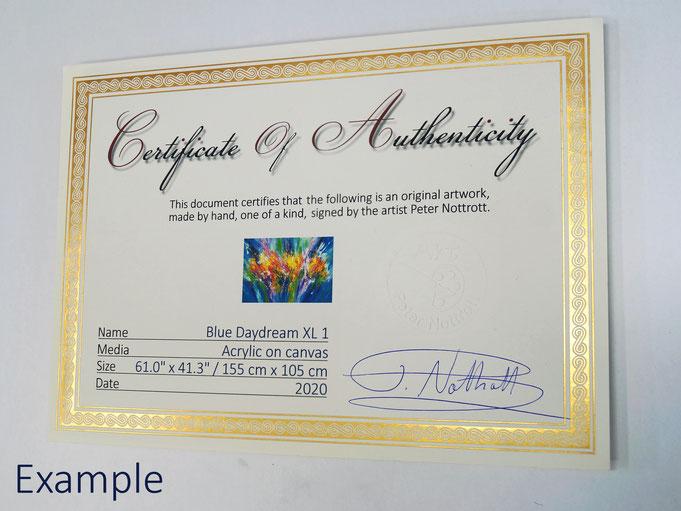 Exemplarisches Zertifikat