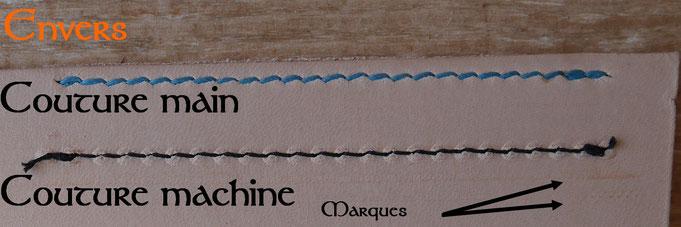 Différence entre couture main et couture machine - Envers