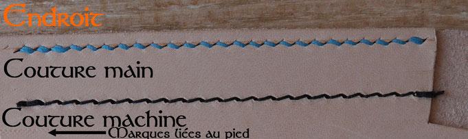 Différence entre couture main et couture machine - Endroit
