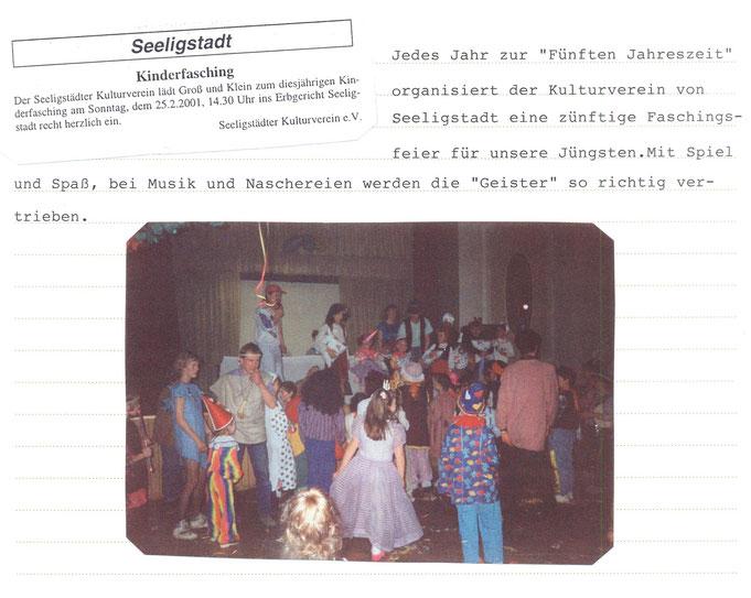 Bild: Seeligstadt Chronik 2001
