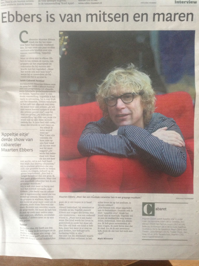 Interview met Mark Minnema in het Noordhollands Dagblad