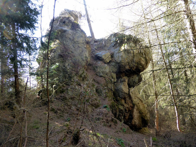 Bielsteinklippe bei Wernigerode (Silberwand)