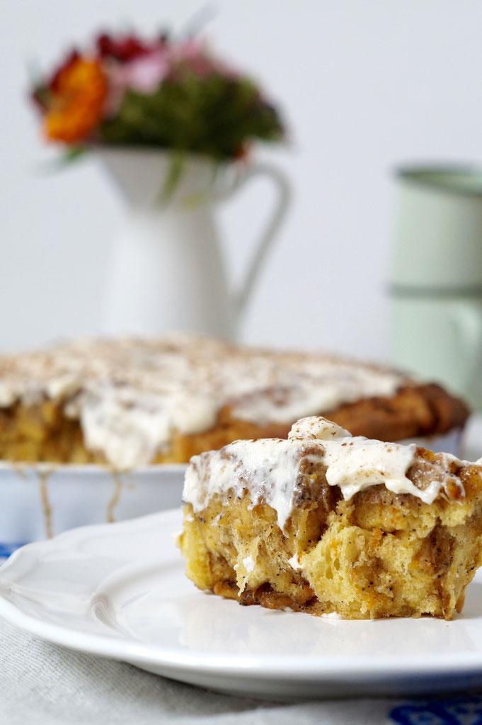 Möhrenhafter Zimtschneckenkuchen - fraustillerbackt - leckere Sachen ...