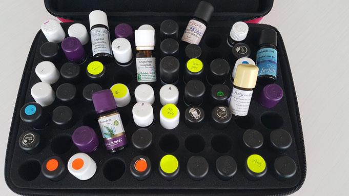 Mein Koffer mit ätherischen Ölen