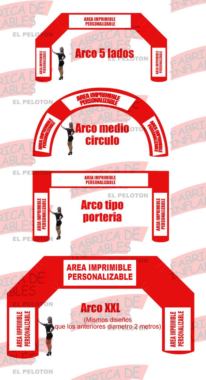 ARCO META INFLABLE, ARCO DE CARRERAS