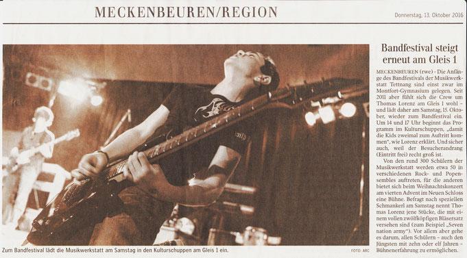 Die Schwäbische Zeitung hat uns angekündigt, vielen Dank!