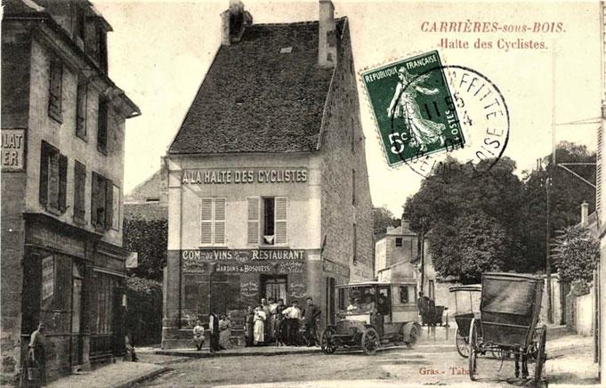 La Halte des Cyclistes à carrières-sous-Bois (Le Mesnil-le-Roi)