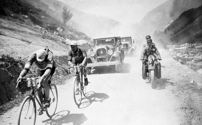 Le champion cycliste Leduc