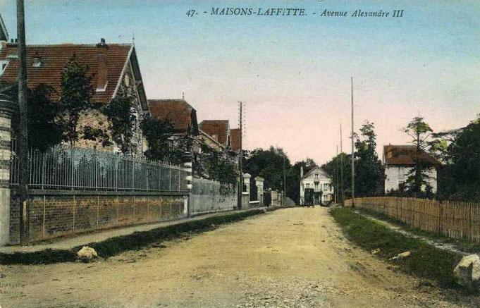 Avenues du parc au début du XXème