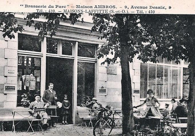 Cafés et restaurants dans le parc