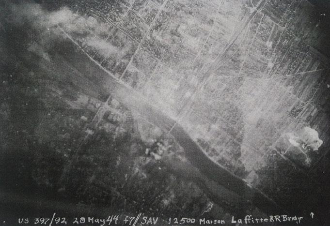A la recherche des appareils et équipage le pont de chemin de fer en 1944, par C.Faix