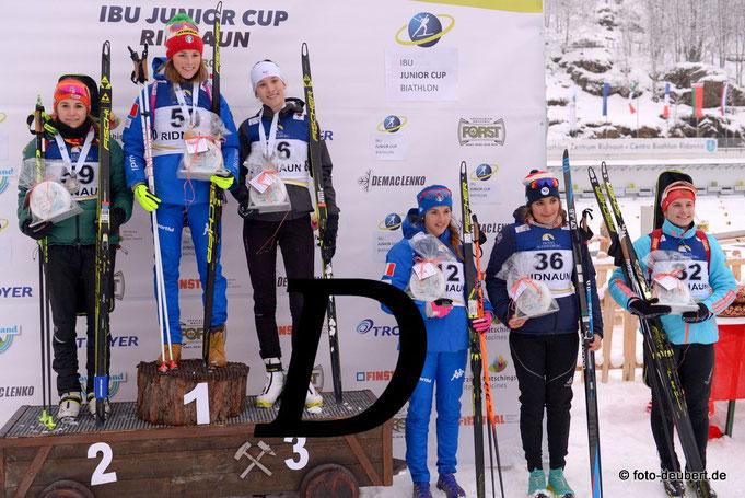 Siegerehrung Juniorinnen Einzel - Foto: © foto-deubert.de