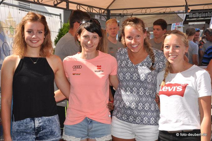 Nachwuchs Teilnehmerinnen Race Night 2.0 Bodenmais - Linda Artinger, Juliane Frühwirt, Julia Aurich und Jennifer Münzner