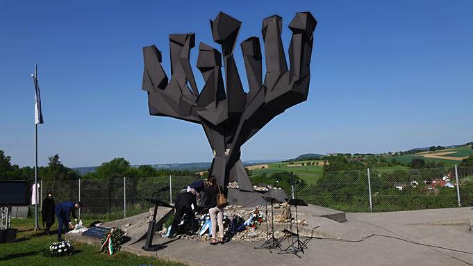 Eine der Gedenkstätten auf dem Areal des KZ Mauthausen | Bild: Miklós Klaus Rózsa
