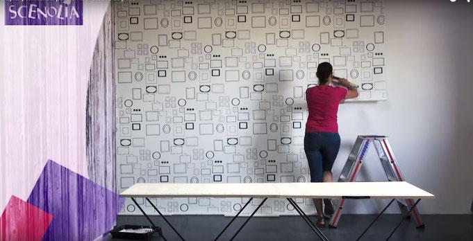 Décoration murale avec papier peint