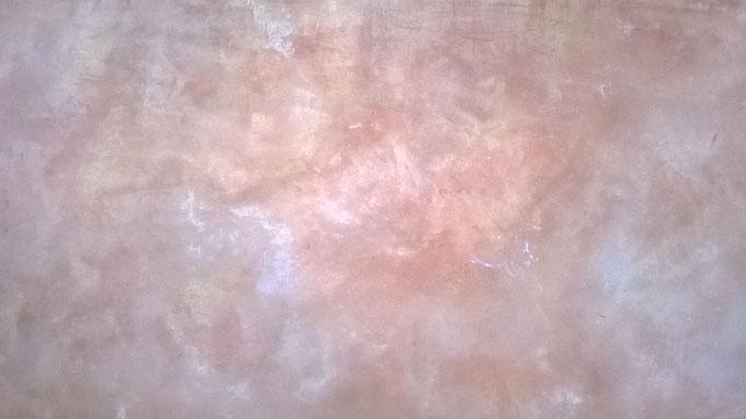 Enduit décoratif  de type Stuc, brillance et effets nuageux intenses