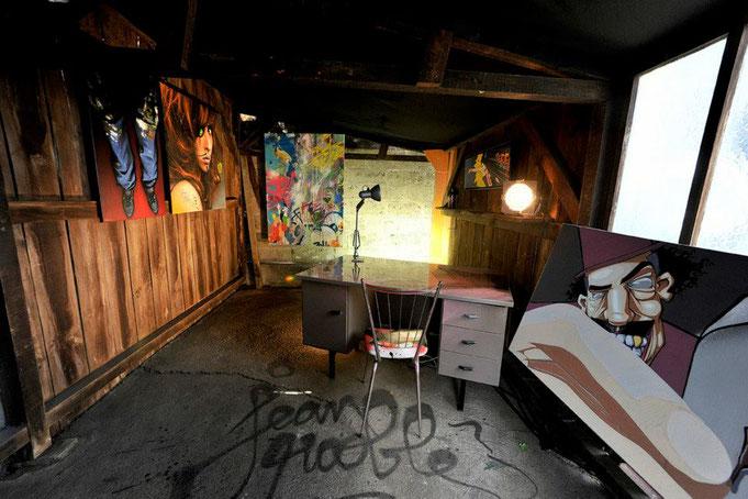 jean rooble transfert transf3rt les frères coulures les vivres de l'art installation exposition bordeaux bacalan 2013 graffiti streetart