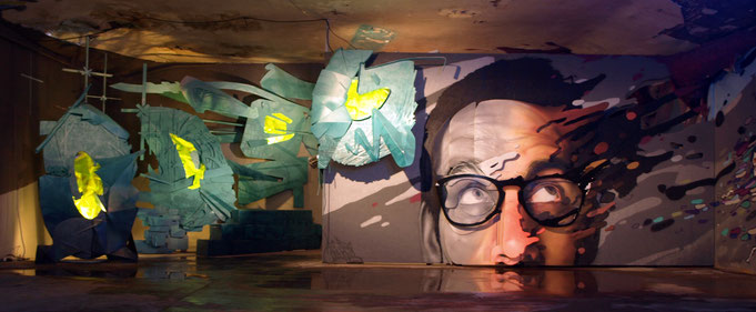 odeg jean rooble les frères coulures tr4nsfert transfert exposition installation graffitis street-art 2014 bordeaux bacalan les vivres de l'art