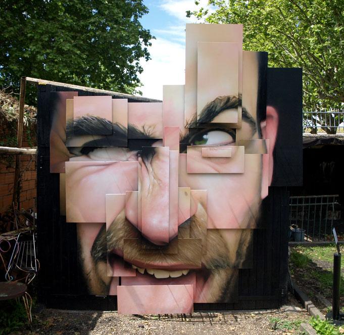 jean rooble pierre levasseur transfert transf3rt bordeaux les vivres de l'art installation exposition graffiti sculpture ferronnerie 2013