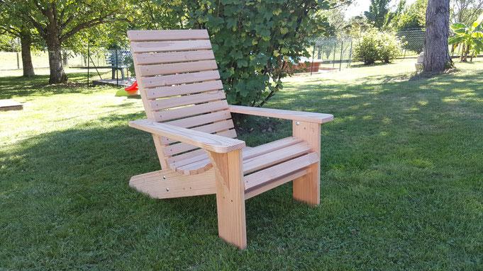Fauteuil Canadien Adirondack Table De Jardin Pas Cher