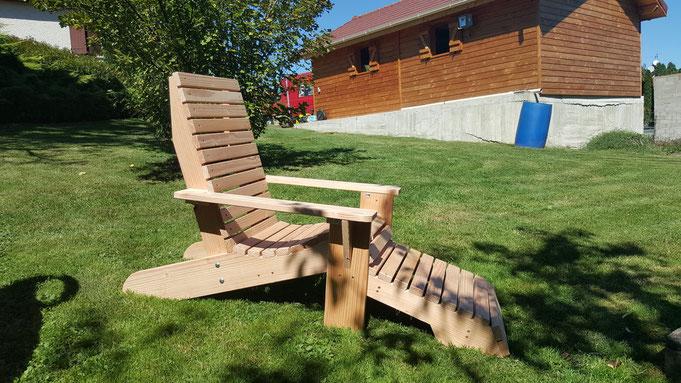 Fauteuil Canadien Adirondack - table de jardin pas cher
