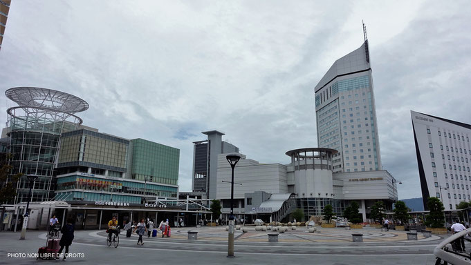 Place de la gare, Takamatsu, île de Shikoku