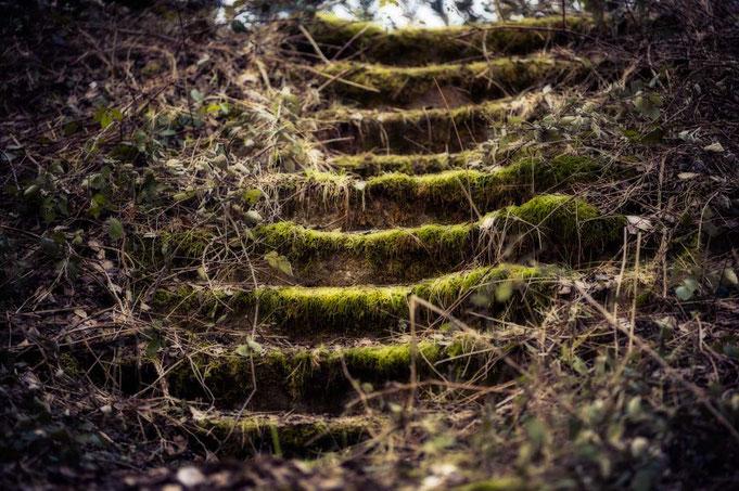 Treppe, wo früher die Soldaten lang gingen