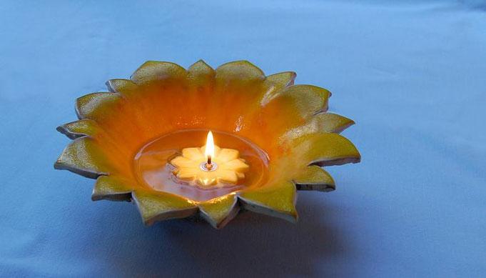 """Öllicht """"Sonnenfeuer"""" mit  Erfurter Feuerblume"""