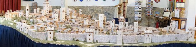 Modell von San Gimignano, aus Ton gefertigt, ein touristischer Höhepunkt