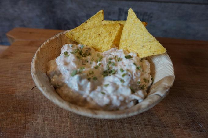 Thunfisch Dip Aufstrich - Perfekt zu Gemuese und Nachos