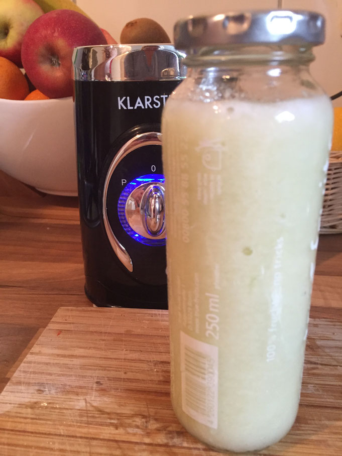 Rezept cremiger Zuckermelonen Smoothie mit Chia-Samen