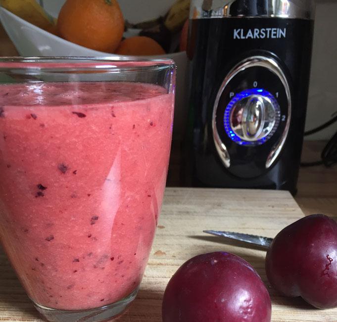 Pinker Smoothie viva colonia - mit Pflaume und Wassermelone