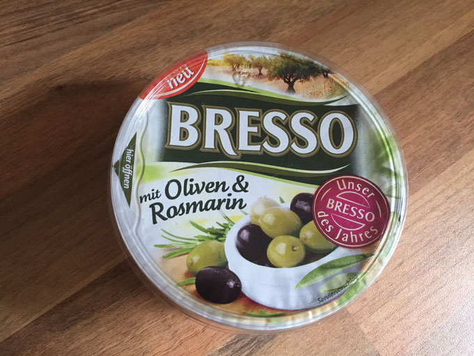 Bresso des Jahres Oliven und Rosmarin Brotaufstrich Spoileralarm