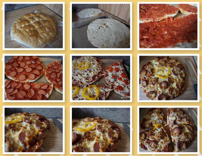 schnelle Fladenbrotpizza l Fladenbrot Pizza l was tun mit altem Brot