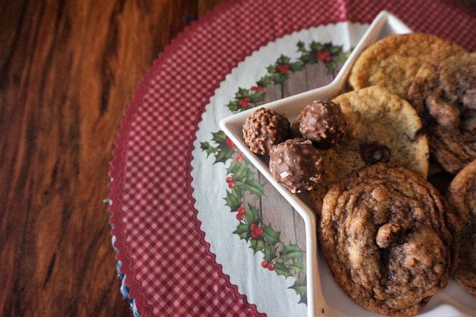 einfache Ferrero Rocher Cookies l Ferrero Rocher Plaetzchen l XMAS Cookies
