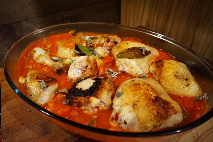Pollo alla cacciatora a la Jamie Oliver  | Haehnchenragout