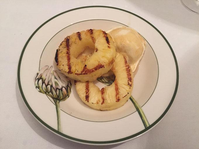 Low Carb Sommer Dessert gegrillte Honig-Ananas - verfuehrerisch gut