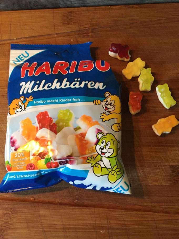Haribo Milchbaeren mit Fruchtsaft