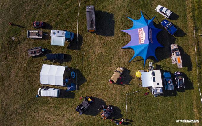 Technische Abnahme der Rallye Teilnehmer