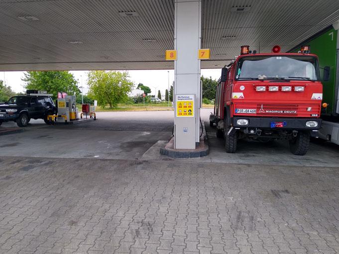 Diesel und Gas in Polen aufgefüllt