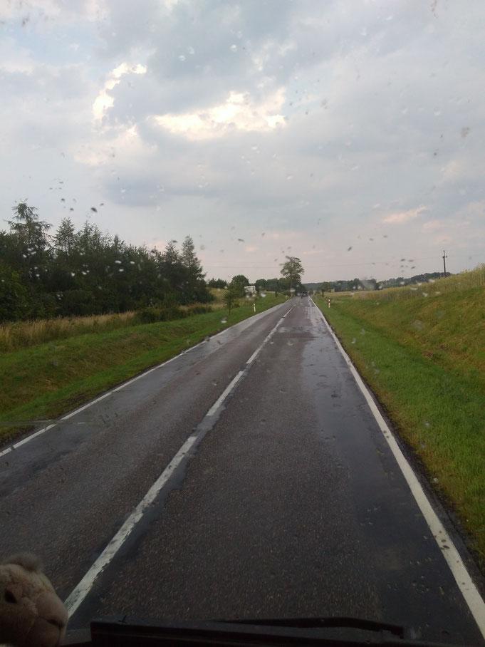 In Deutschland waren es 34°C , in Polen Abkühlung und Regen