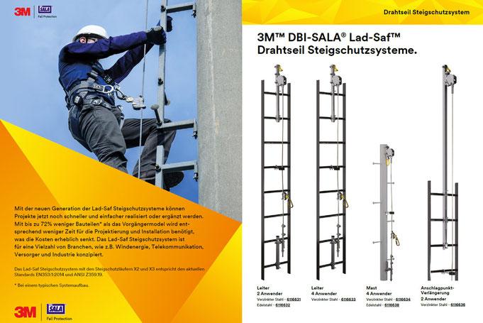 3M™ DBI-SALA® Lad-Saf™ Drahtseil Steigschutzsystem