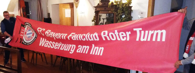 Vorstellung des Banners für die Allianz Arena