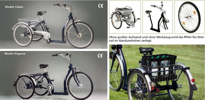 Pfautec Classic Dreirad für Erwachsene