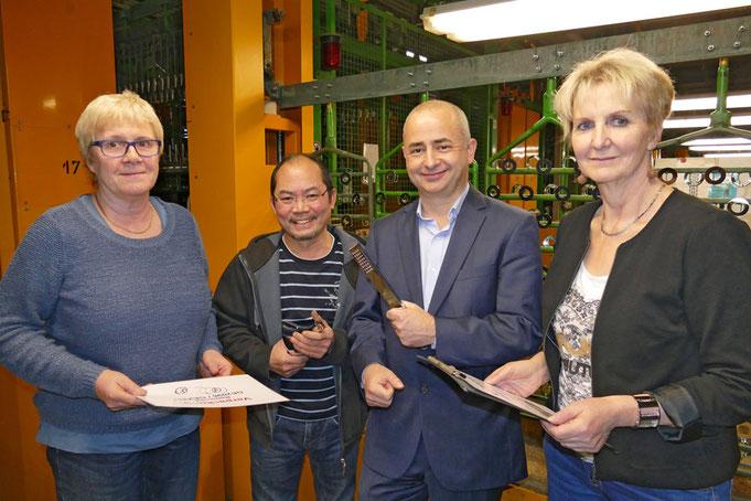 Steffi Mannigel, Xoung Nguyen, Timo Gleinig , Gerlinde Kirschner (v.l.n.r.) bilden die Führungscrew der OFB Oberflächenbearbeitung Kimax GmbH
