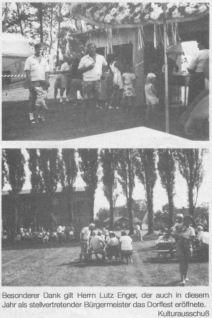Bild: Teichler Wünschendorf Erzgebirge Dorffest 1992