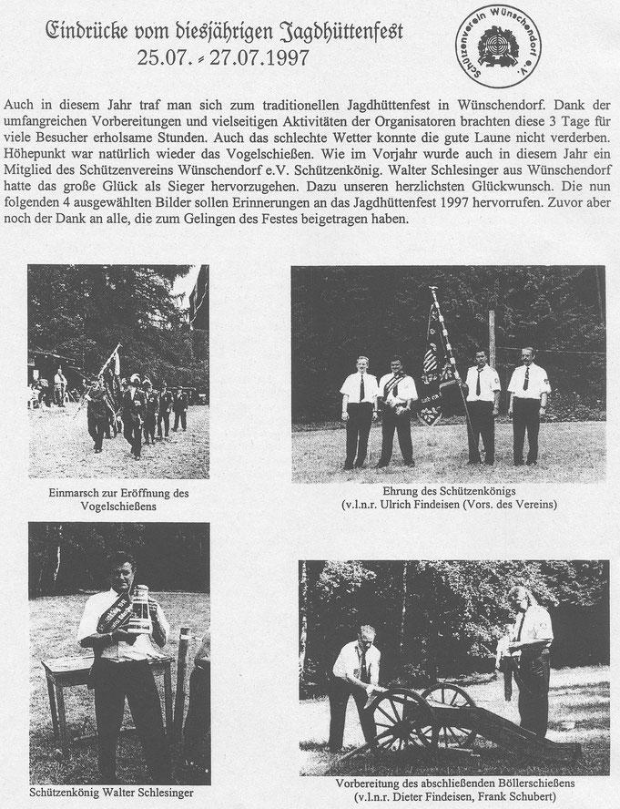 Bild: Teichler Wünschendorf Erzgebirge Jagdhüttenfest 1997