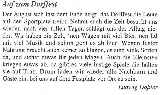 Bild: Teichler Wünschendorf Erzgebirge Dorffest 1997 Ludwig Daßler